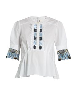 Peter Pilotto | Macramé-Lace Trimmed Cotton Top