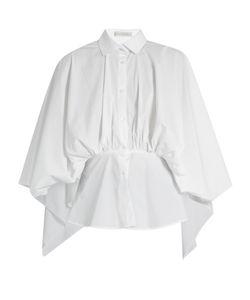 PALMER/HARDING | Open-Back Gathered-Waist Cotton-Blend Shirt