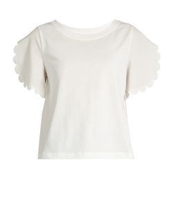 See By Chloe | Scallop-Trim Jersey T-Shirt