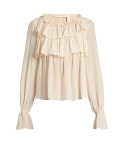 See By Chloe | Ruffled Silk Top