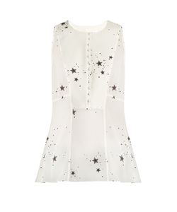A.L.C. | Erin Star-Print Sleeveless Silk-Georgette Top
