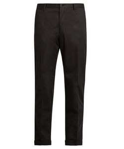 Dolce & Gabbana | Contrast-Piping Chino Trousers