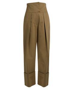 Preen Line | Terri High-Rise Cotton-Gabardine Trousers