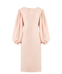 OSMAN | Maddy Balloon-Sleeved Crepe Midi Dress