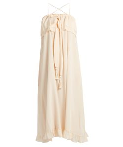 See By Chloe | Self-Tie Ruffled-Trim Silk Dress