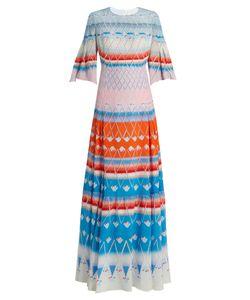 Peter Pilotto   -Print Silk Pleated Maxi Dress