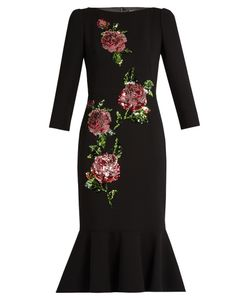 Dolce & Gabbana | Sequin-Embellished Wool-Crepe Dress