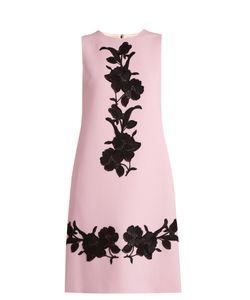 Dolce & Gabbana | -Appliqué Wool-Crepe Dress