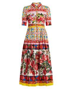 Dolce & Gabbana   Carretto-Print Cotton-Poplin Midi Dress
