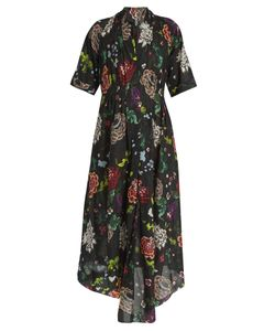 Adam Lippes | V-Neck Print Cotton Dress