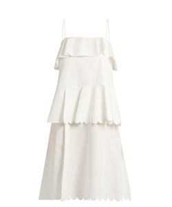 See By Chloe | Scallop-Edged Cotton Dress