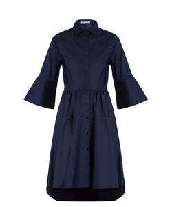 PALMER/HARDING | Flounce-Sleeve Cotton Shirtdress