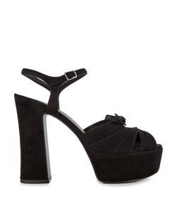 Saint Laurent | Candy Suede Platform Sandals
