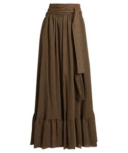 See By Chloe | Waist-Tie Gathered Gauze Maxi Skirt