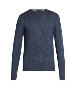 Etro | Paisley-Print Wool-Blend Sweater