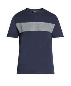 A.P.C. | Panelled Cotton-Jersey T-Shirt