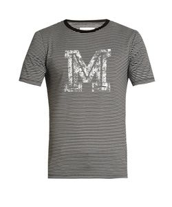 Maison Margiela | Logo-Print Striped T-Shirt