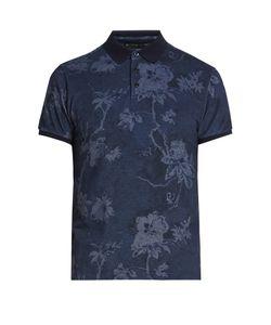 Etro   -Print Cotton-Piqué Polo Shirt