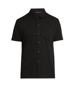 Lanvin | Button-Front Cotton-Piqué Polo Shirt