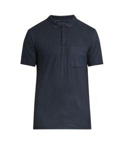 Lanvin | Patch-Pocket Cotton And Cashmere-Blend Polo Shirt