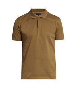 Lanvin | Stitch-Detail Cotton-Piqué Polo Shirt
