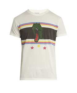 Saint Laurent | Dino-Print Crew-Neck Cotton T-Shirt