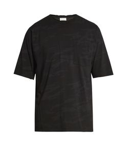Saint Laurent | Distressed Camouflage-Print Cotton T-Shirt