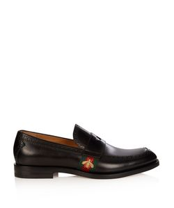 Gucci | Web-Panelled Leather Penny Loafers