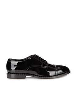 Jimmy Choo | Penn Patent-Leather Studded Derby Shoes