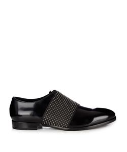 Jimmy Choo | Peter Stud-Embellished Leather Slip-On Shoes
