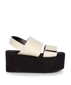 Marni | Leather And Canvas Platform Sandals