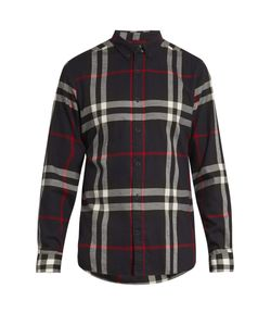 Burberry | House Check Cotton-Flannel Shirt