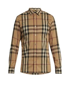 Burberry | House-Check Cotton-Blend Shirt
