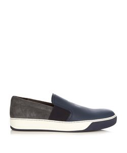 Lanvin | Suede And Grained Leather Trainers
