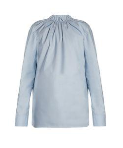 Marni | Buttoned-Back Ruffled-Neck Blouse