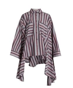 PALMER/HARDING | Poet Striped Patch-Pocket Cotton-Blend Shirt