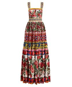 Dolce & Gabbana | Carretto-Print Lace And Sequin Gown