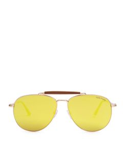 TOM FORD SUNGLASSES | Sean Mirrored Aviator Sunglasses