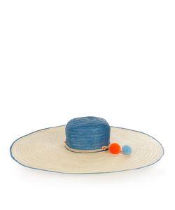 Sophie Anderson | Pompom-Embellished Raffia Hat
