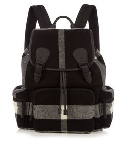 Burberry | Checked Wool-Blend Felt Backpack
