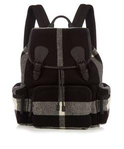 Burberry | Checked Wool-Blend Felt Backpack