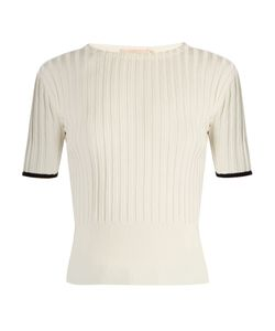 BROCK COLLECTION | Kylie Silk-Knit Crew-Neck Top