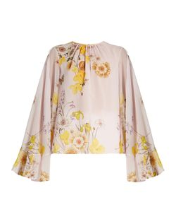 Giambattista Valli | Cape-Back Print Silk-Georgette Blouse