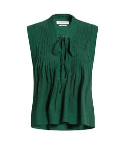 Isabel Marant Étoile | Kenny Lace-Up Sleeveless Top
