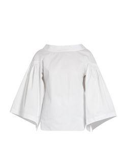 Teija | Button-Back Cotton-Poplin Top
