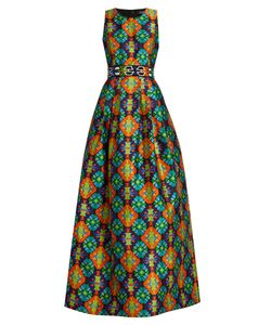 Andrew Gn | Geometric-Print Sleeveless Gown