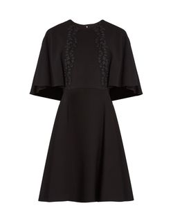 Giambattista Valli | Lace-Embroidered Cape-Back Cady Dress