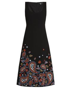 Andrew Gn | Embellished Sleeveless Wool-Blend Crepe Dress