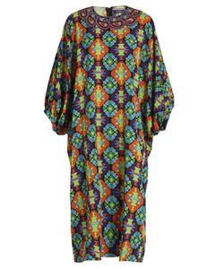 Andrew Gn | Geometric-Print Silk-Blend Crepe Dress