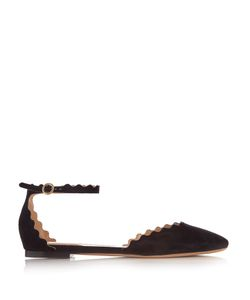 Chloe | Lauren Scallop-Edged Suede Flats